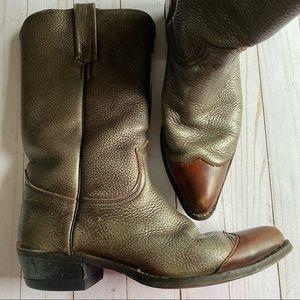 Vintage 70's black label Frye cowboy boots